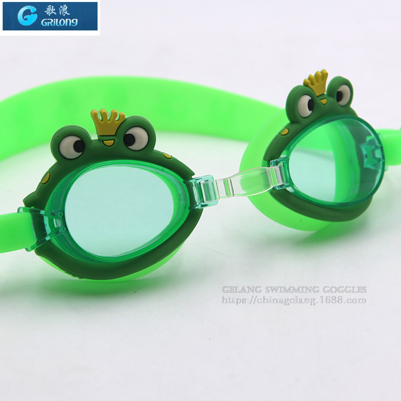 Gelang Genuine Product Fashion Cartoon Goggles Children Anti-fog Waterproof High-definition Swimming Eye-protection Goggles Supp