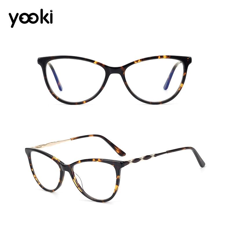 Quality Acetate Cat Eye Eyeglasses Frame Women Prescription Glasses Men Optical Eye Glasses Frame Alloy Frame GLF8031