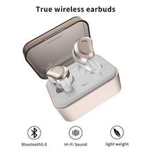 TWS Bluetooth Earphone Mini Wireless Earbuds Sport Handsfree Headphone Noise Cancelling Headset with Charging Box for Phone 2set daono v9 handsfree business bluetooth headphone with mic voice control wireless bluetooth headset for drive noise cancelling