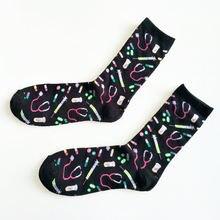 Мультяшная Больничная Экипировка мужские носки с Т образным
