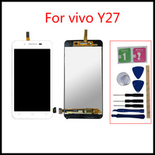 100% High quality LCD For vivo Y27 LCD Touch Screen Panel Y27 Display Monitor LCD Ekran Digitizer Assembly Replacement Parts high quality lcd display for prestigio muze a7 psp 7530 duo psp7530duo psp7530 lcd display digitizer assembly replacement