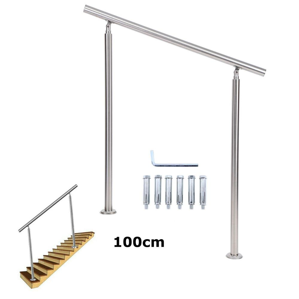 Yonntech Railing Handrail Staircase Parapet Balcony Kit Pre   Pre Assembled Stair Railing   Deckorators   Balusters   Pressure Treated   Stainless Steel   Wood