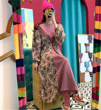 2020 Новое поступление корейское шикарное платье с круглым вырезом