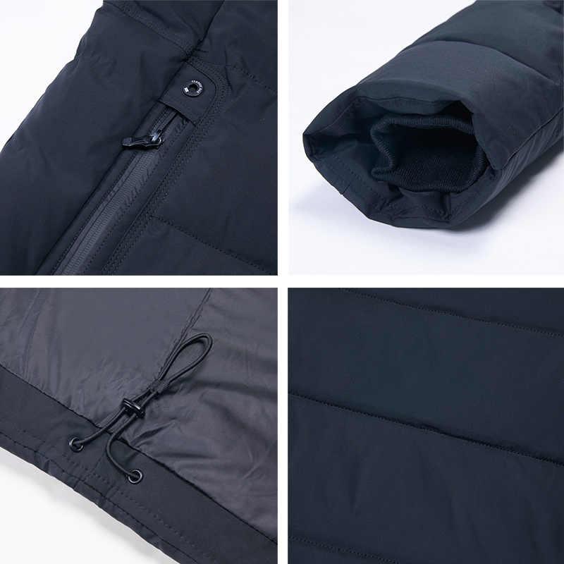 ICEbear 2019 新冬のファッションブランドパーカー男性のジャケットシンプルなファッションフード付きコートニット袖口のデザイン男性のジャケット MWD18926D