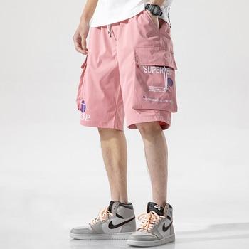 MenSummer New Classic Mutil-Pockets Vintage Cargo Shorts Men Fashion Streetwear Pattern Hip Hop Harajuku Shorts Men 4XL Men's Bottoms