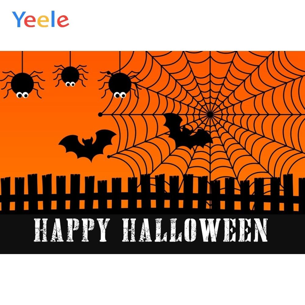 Yeele Halloween Photocall Spiders Web Wood Fences Photography Backdrops Personalized Photographic Backgrounds For Photo Studio