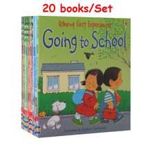 20 книг/12 книг для 1 комплекта детских usborne story книжки