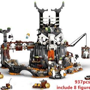 New 2020 Ninjag TV series Skull Sorcerer Dungeon Cole Season 12-14 Building Blocks Classic Model Sets Bricks Kids Kits 71722
