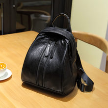 Genuine leather backpack retro casual backpacks fashion small capacity travel Bag business Schoolbag Cowhide Ladies Female C1156(China)