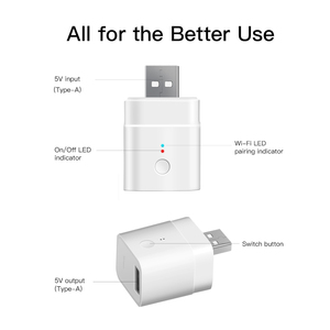 Image 5 - 1/2/3/4/5/10 PCS Itead SONOFF Micro USB Wifi Smart Adaptor 5V Wireless Charge Adaptor Voice Control Work With Alexa Google Home