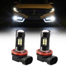 2 шт. H8 H11 светодиодные лампы для противотуманных фар для Audi A3 8L 8P A4 B6 B7 B8 C6 4F RS3 Q3 Q7 TT 8L 8V S3