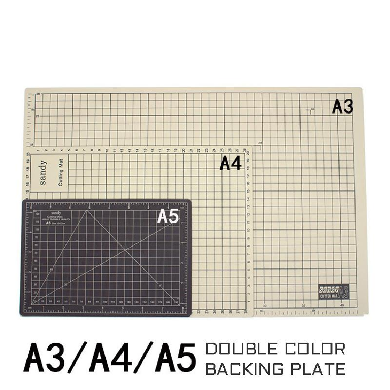 A5 Cutting Pad Two-color Double-sided Automatic Healing Cutting Board Student Model Diy Manual Cutting Board Pvc Engraving Pad