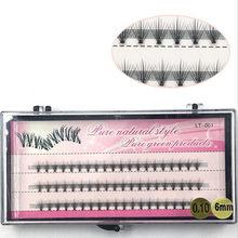 Pestañas de racimo de 60 clústeres/caja, pestañas de extensión de pestañas individuales gruesas bunches maquillaje profesional pestañas postizas