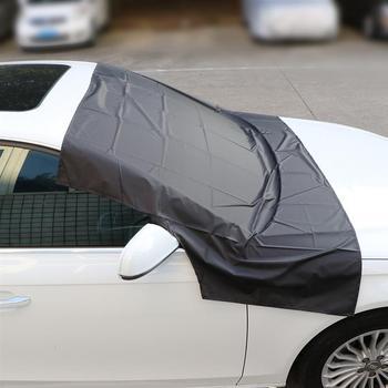 Auto บังแดดรถกระจกหิมะปกคลุม Sun COVER Tarp แม่เหล็กขอบลบ ICE Frost ได้อย่างง่ายดายสำหรับฤดูหนาวฤดูร้อน