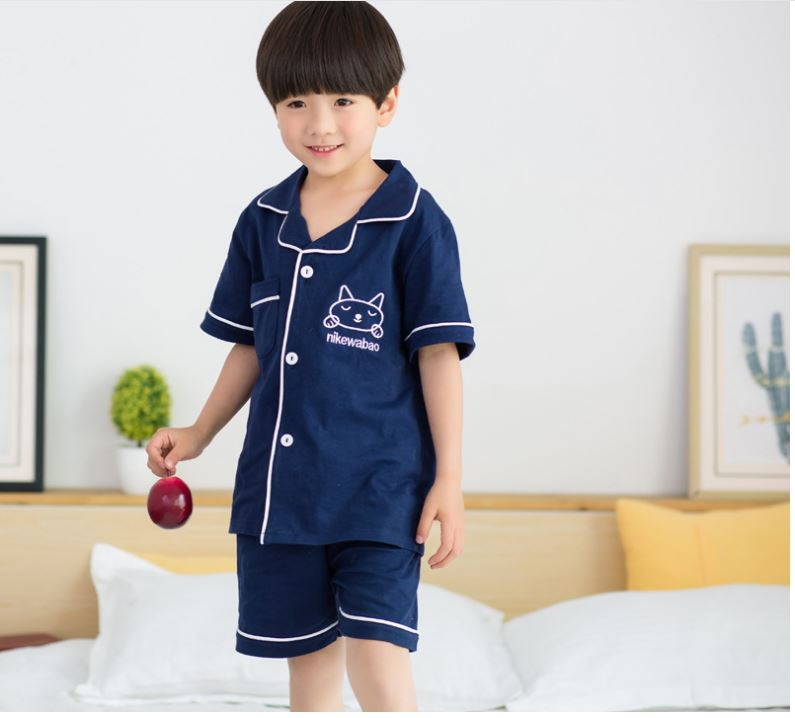 girls pajamas sets kids boys home suits summer cotton comfortable nightwear fashion indoor clothes child pyjamas high quality
