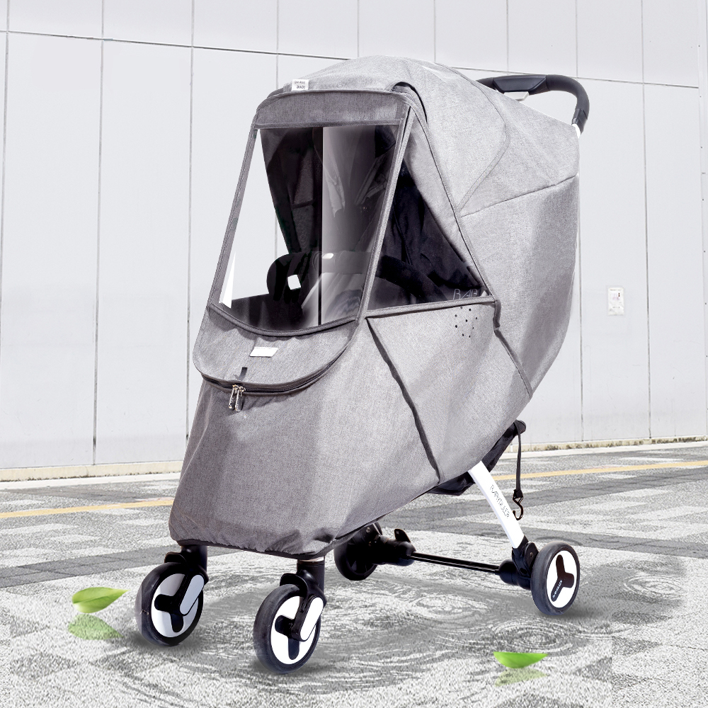Universal Pram Rain Cover For Baby Trolley Travel Buggy Pushchair Lightweight