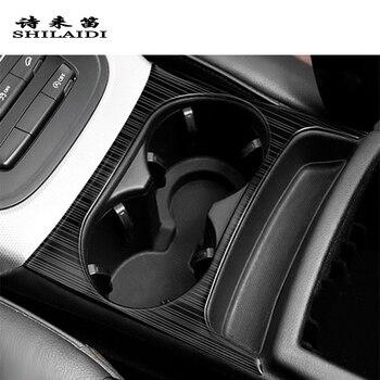تصفيف السيارة ألياف الكربون لأودي Q5 التحكم المركزي والعتاد التحول أزرار لوحة غطاء كوب الماء ملصقا الداخلية اكسسوارات السيارات
