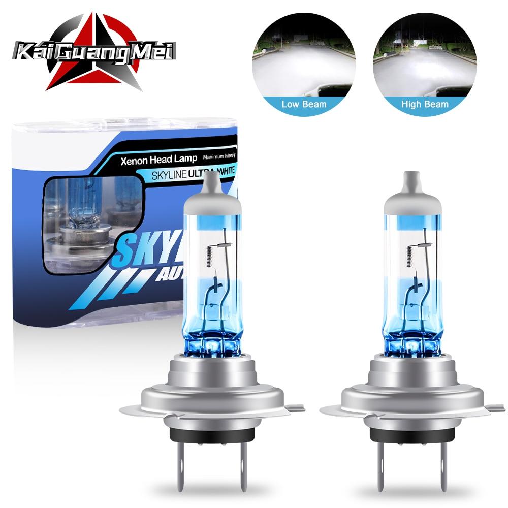 2PCS Halogen Xenon Light Bulbs 55/60W H1 H3 H4 H7 H8 H11 9005 9006 White 5000K 12V Car Headlight Fog Light Lamp Replacement