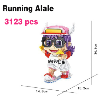 loz balody big size Cute Anime mini Building Bricks Connection Blocks Arale Auction Figures Block Toys for Children Girls Gift balody mini blocks big size mario diy building toys large one piece bricks cute auction juguetes for kids toys 16001 16009