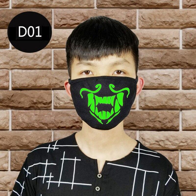 Luminous Warm Mouth Anti-Dust Flu Face Mask Unisex Respirator Mask Mouth-muffle