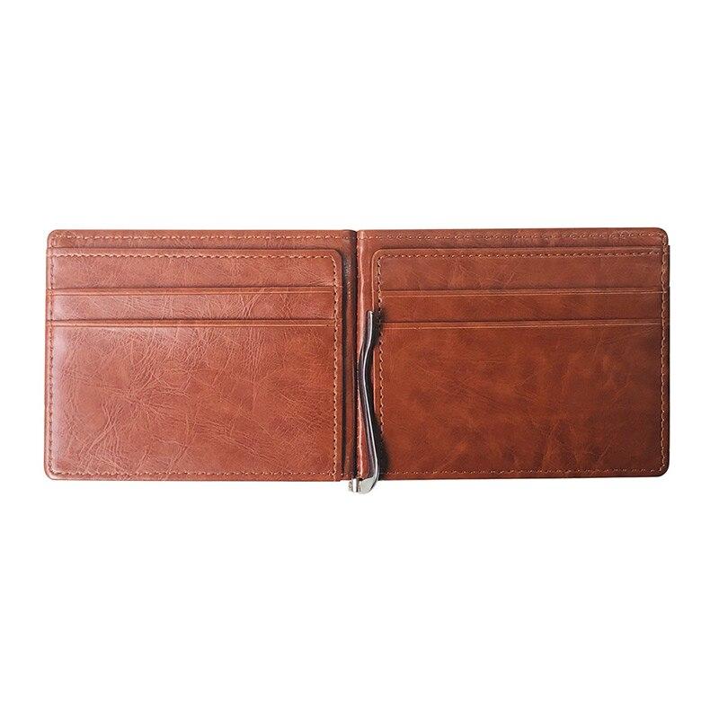 Fashion RFID Blocking Men Wallets PU Leather Multi-card Position ID Holder Coin Purse Creative Flip Cover Soft Male Clutch Bag