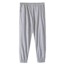 Мужчины% 27 хлопок трикотаж брюки для сна длинные брюки мужские пижамы сна низ одежда для сна осень весна верхняя одежда повседневная домашняя одежда брюки