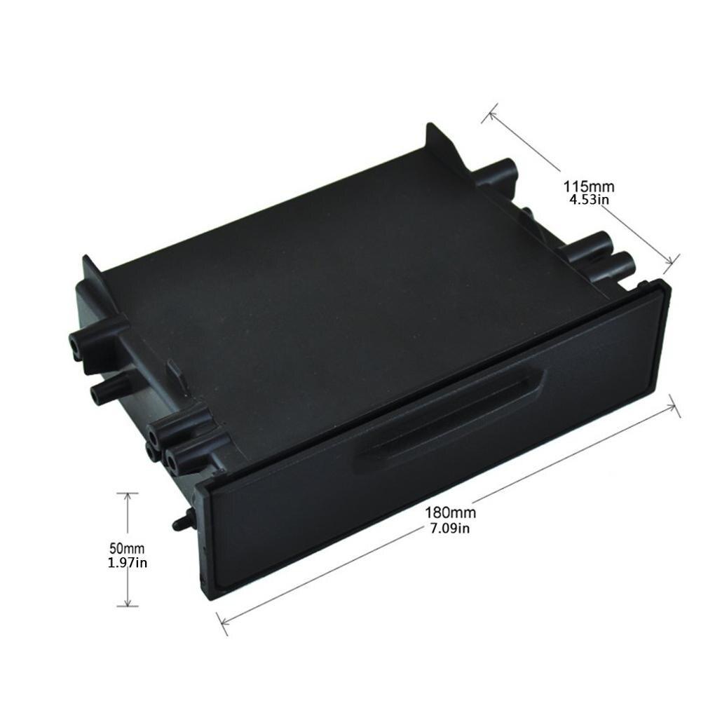 Universal carro auto único din rádio bolso kit instalação definir traço 1 caixa de armazenamento do carro para toyota