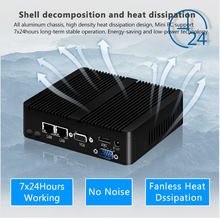 BEBEPC Mini PC Fanless Intel Celeron J1900 N2830 Dual LAN Windows 10 N2930 4 Core Industrie Mini Computer 2 * COM WiFi VGA HTPC