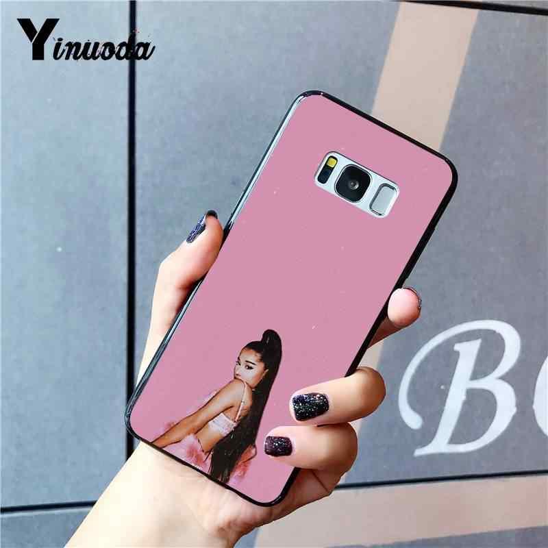 Yinuoda أريانا Grande-7 خواتم مخصص صور لينة الهاتف حقيبة لهاتف سامسونج غالاكسي S9 plus S3 S6 7 8 9 S10 E S9 غطاء