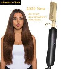 Hot Comb Brush Curling Hair Tools Straightener Hair