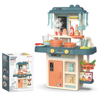 2019 hot kids Classic Pretend Play kitchen toys imitate chef light Kitchen Sets cook fun game girl gift toys miniature food