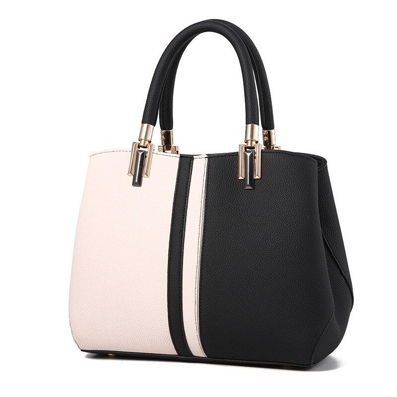 Women Handbags Luxury Handbag Women Bags Designer Leather Bags For 2020 Fashion Panelled Shoulder Bag Female Kabelka