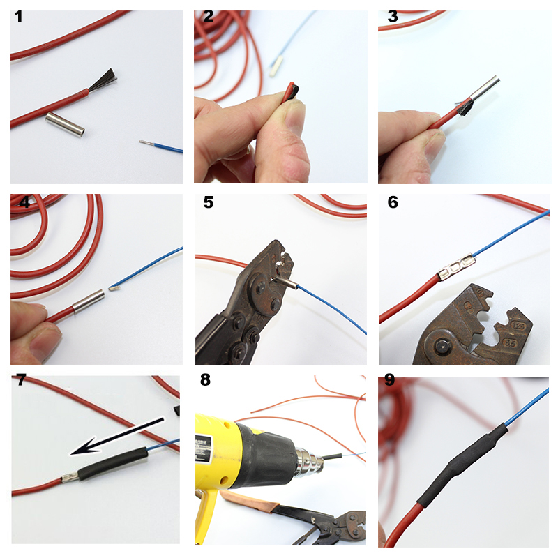 Image 5 - 100m Can shipped from Russian 12K with thermostat Red Silicone Rubber Infrared Carbon Fiber Warm Floor Heating Cable-in Wires & Cables from Lights & Lighting
