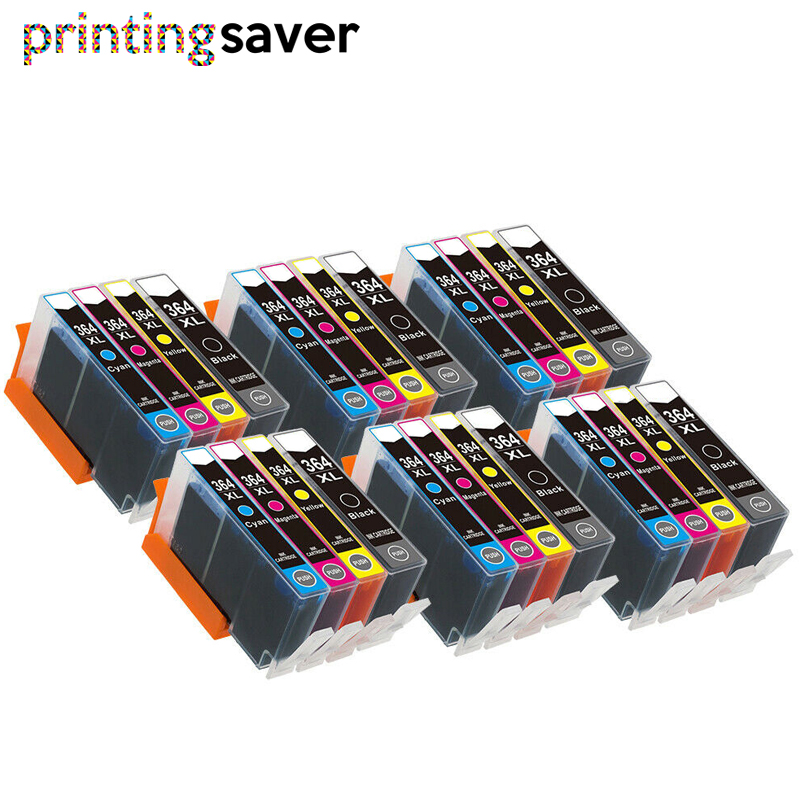 24pcs ink cartridge 364XL 364 XL for <font><b>HP</b></font> Photosmart 5510 5515 6510 7520 <font><b>6520</b></font> 5520 5524 B010a B109a B209a Deskjet 3070A image