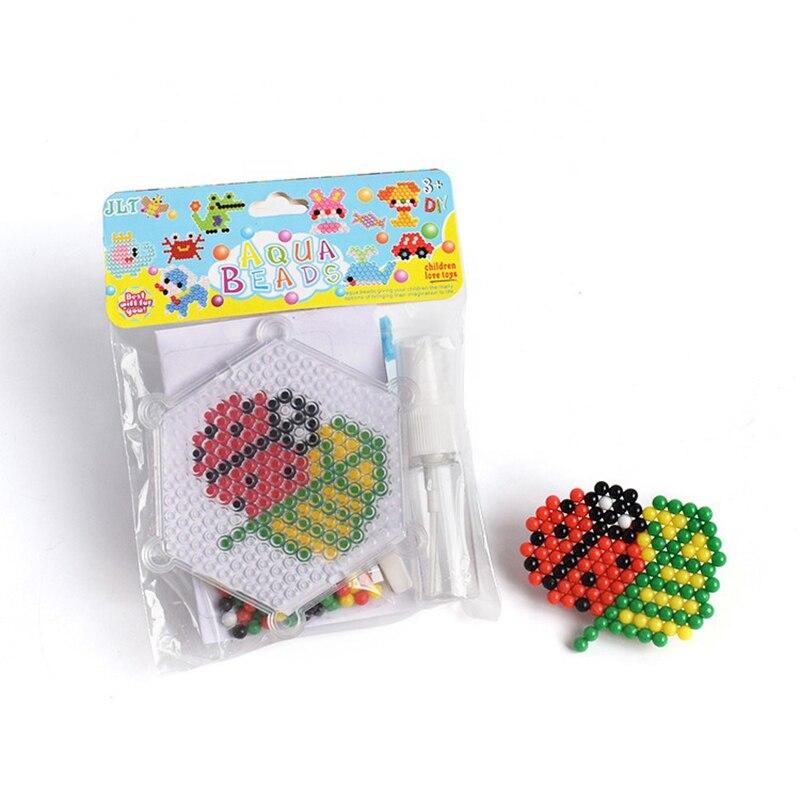 Magic Puzzle Toys Water Mist Bead Kit  DIY Craft Animal Ladybug Handmade Sticky Beads Educational Toys Kids Good Gifts