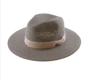 Image 1 - Big Head Man Large Size Panama Hat Lady Beach Sun Cap Male Fedora Hat Men Plus Size Straw Hat 55 57cm 58 59cm 60 62cm 62 64cm