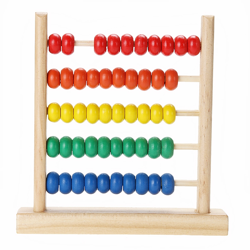 Mini Wooden Abacus Children Early Math Learning Toy Numbers Counting Calculating Beads Abacus Montessori Educational Toys