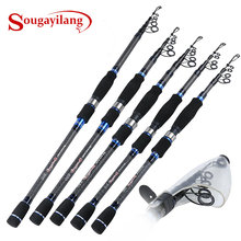 Sougayilang 1.8-3M Telescopic Fishing Rod Ultralight Carbon Portable Travel Spinning Fishing Pole Lure Rod Fishing Tackle Pesce(China)