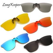 Мужские поляризационные солнцезащитные очки longkeeper с клипсой