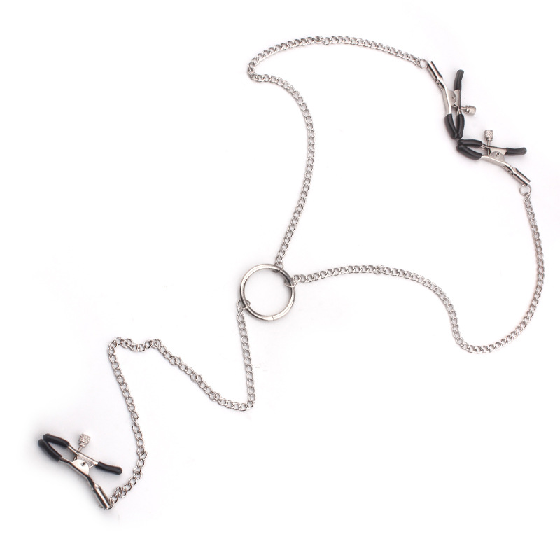 Adult Sex Games Toys for Woman Couples Metal Nipple Clamps Slave Colla