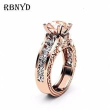RBNYD nuevo anillo de cristal de las señoras de moda Zircon Europa y América accesorios de moda damas compromiso de boda regalo de Navidad