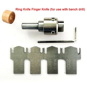 DIY Wooden Thick Rings Maker Drill Bit Tool Wooden Ring Milling Cutter HSS+ 4 Blades Spanner Handle Machinery Tools