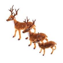 Veados fadas jardim miniaturas adereços natal alce de pelúcia rena natale ingrosso decoração natal simulação