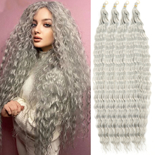 30 Inch Deep Wave Twist Crochet Hair african curls Synthetic Braid Hair Afro Curls Ombre Braiding Hair Extensions Hair Expo