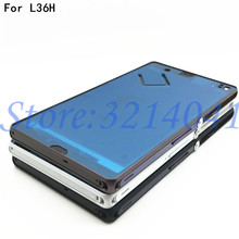 Replacement Original For sony Xperia Z L36H LT36 C6603 C6602 Front Middle Chassis Housing frame+ plug cover все цены
