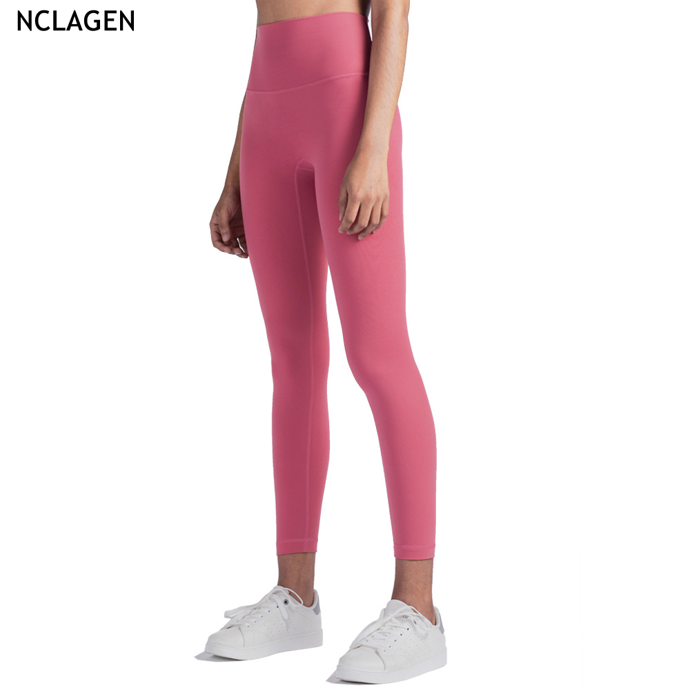 Nclagen Vrouw Gym Sport Workout Running Dubbelzijdig Hoge Taille High Rise Yoga Broek Hoge Impact Butt Lifting Squat proof Panty