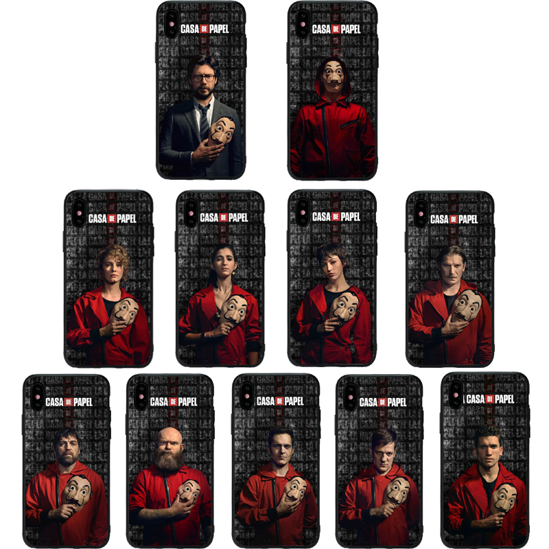 >TV series case For iphone 7 8 PLUS 6 6S Money Heist House Paper phone case cover For iphone X XR XS MAX fundas soft TPU