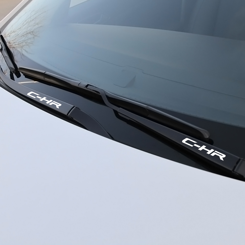 Image 2 - 4PCS Car Window Wiper Stickers For Toyota Corolla C HR RAV4 Yaris Camry Land Cruiser Avalon Highlander Mirai Avensis Prado Prius-in Car Stickers from Automobiles & Motorcycles