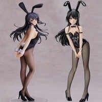 25-40cm corpo macio rascal não sonha com coelho menina senpai sakurajima mai sexy menina anime figuras de ação pvc brinquedo anime figura