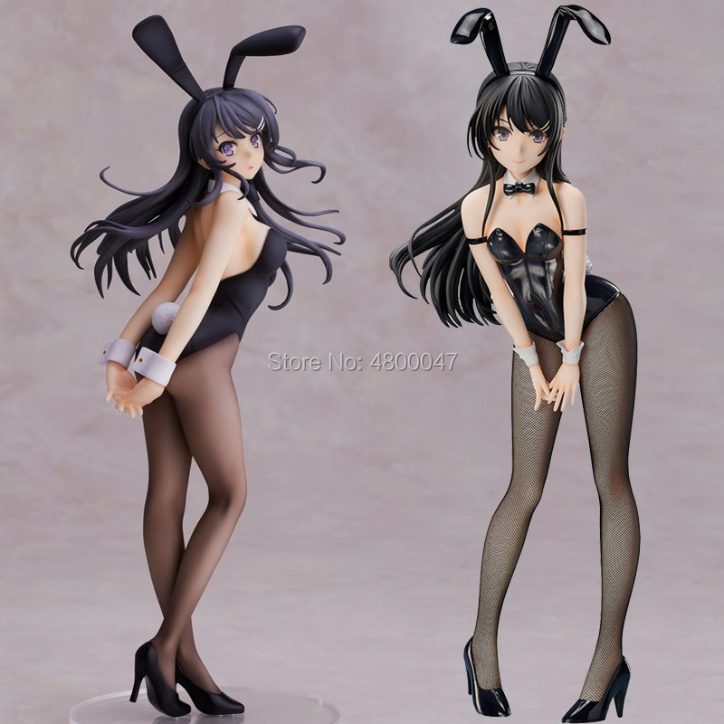 25-40cm Soft Body Rascal Does Not Dream Of Bunny Girl Senpai Sakurajima Mai Sexy Girl Anime PVC Action Figures Toy Anime Figure